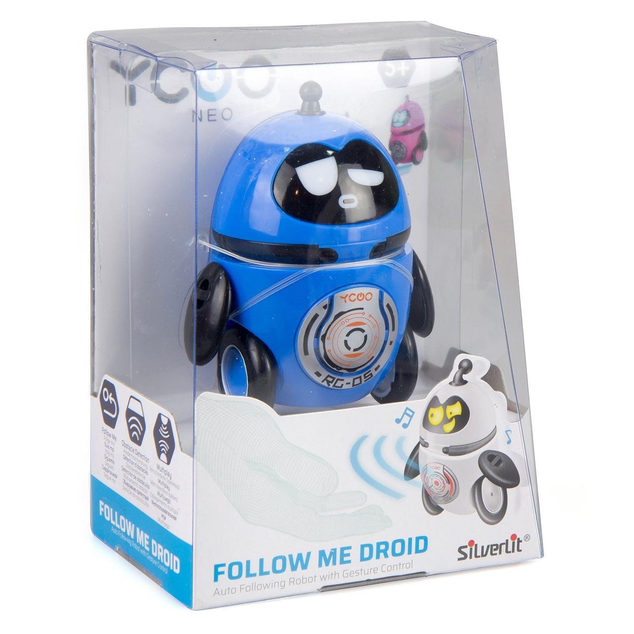 """Silverlit Интерактивный робот """"Дроид за мной!"""", синий"""