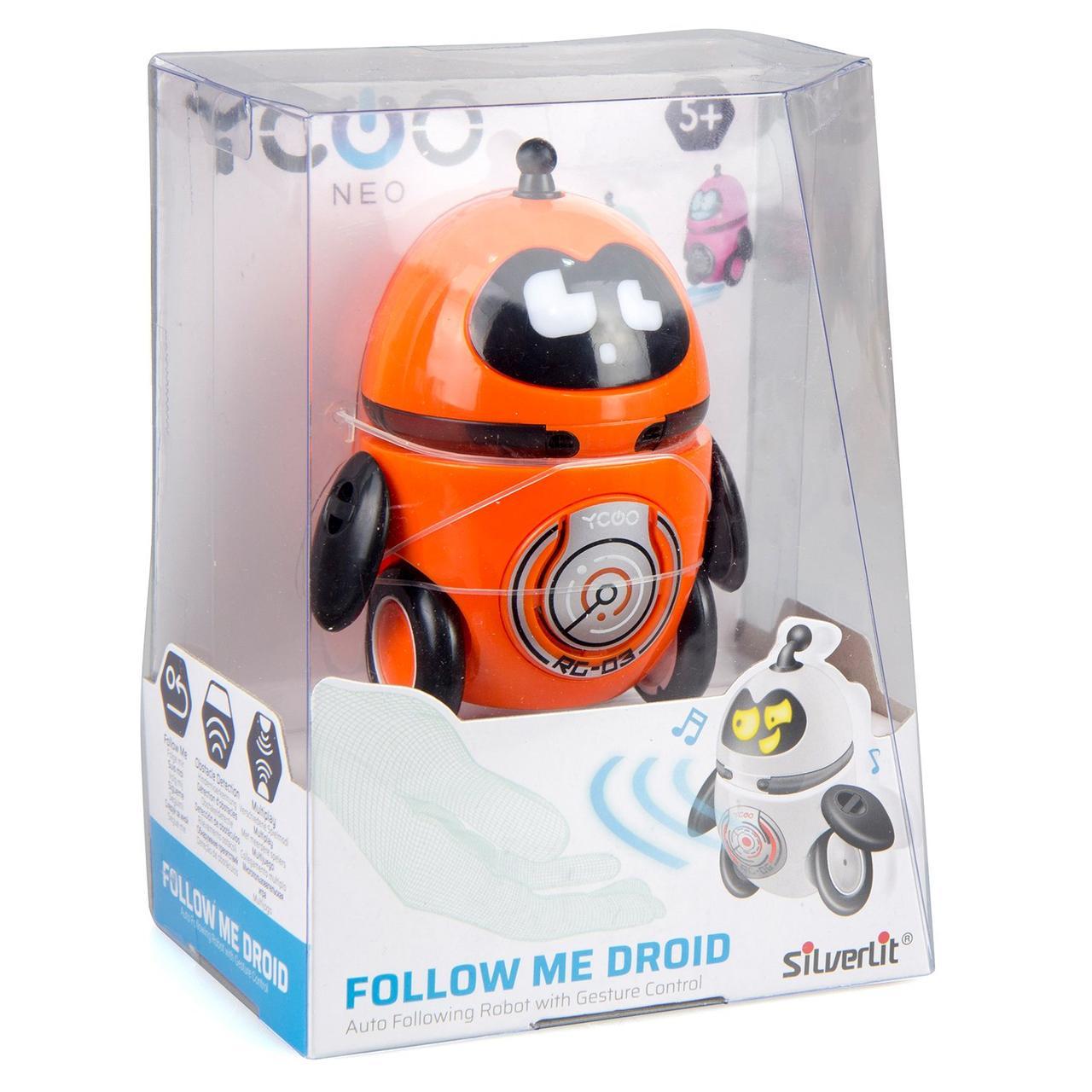 """Silverlit Интерактивный робот """"Дроид за мной!"""", оранжевый"""