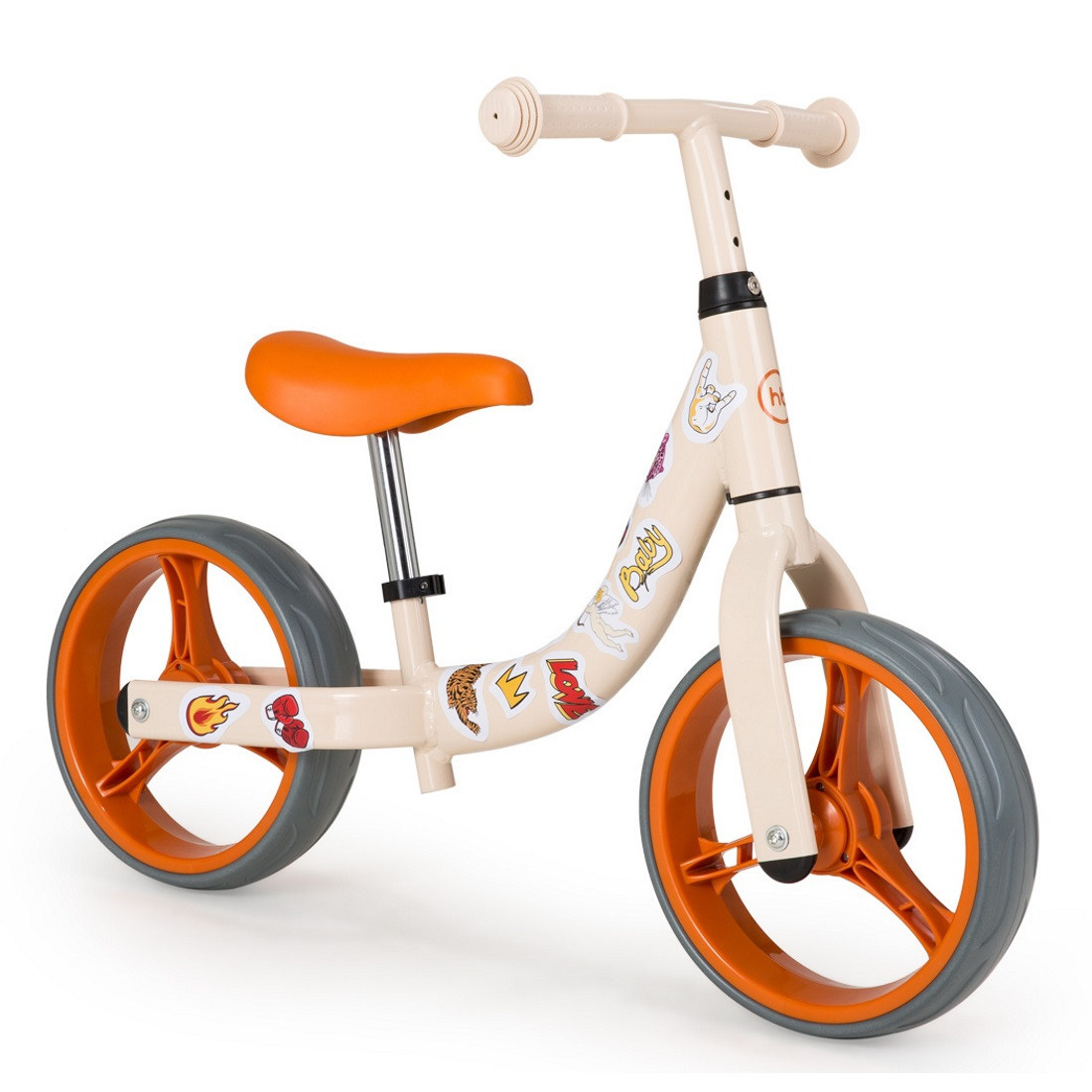 Беговел Happy Baby WOGO - бежевый, оранжевый