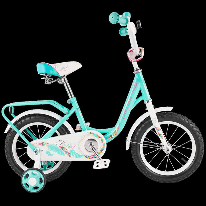 """Детский велосипед Tech Team 131 - 12"""" Зелёный"""