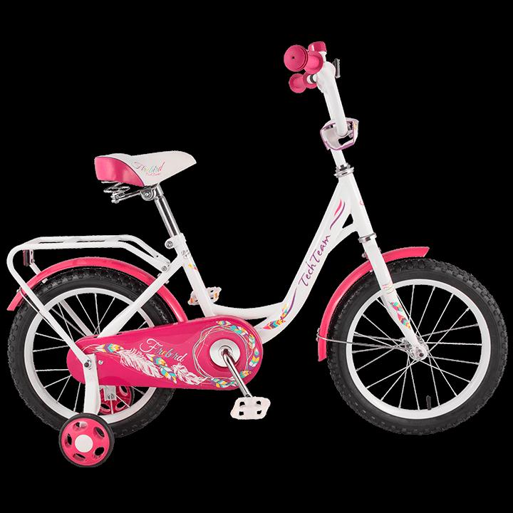 """Детский велосипед Tech Team 131 - 16"""" Розовый"""