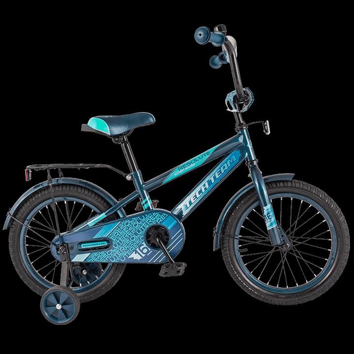 """Детский велосипед Tech Team 134 - 16"""" Синий"""