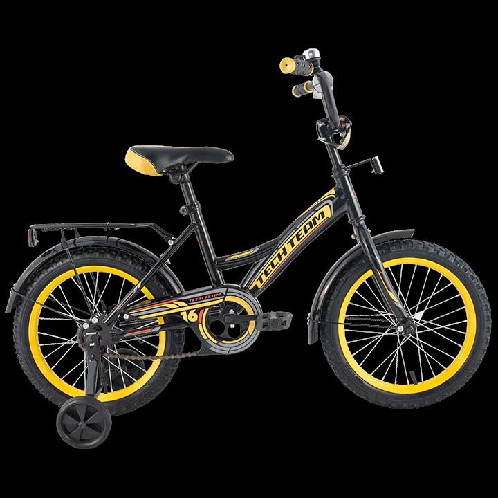 """Детский велосипед Tech Team 135 - 16"""" Чёрный"""