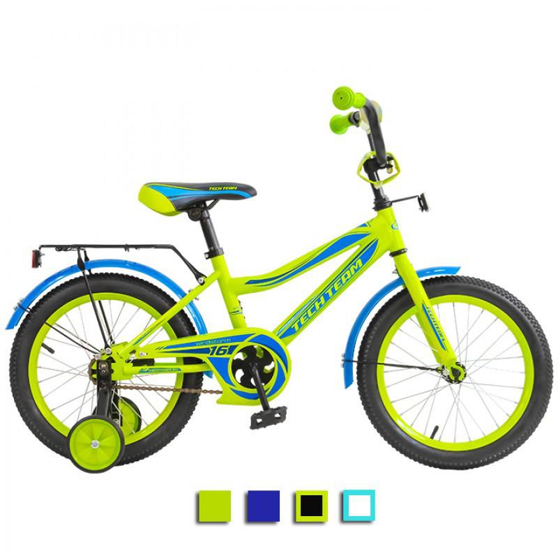 """Детский велосипед Tech Team 136 - 14"""" Зелёный"""