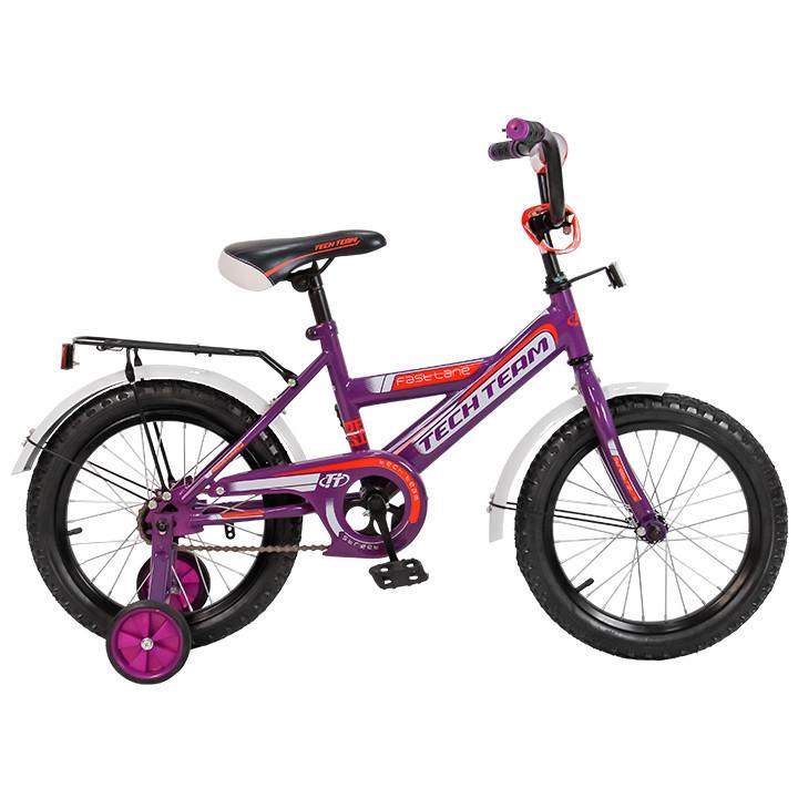 """Детский велосипед Tech Team 138 - 12"""" Пурпурный"""