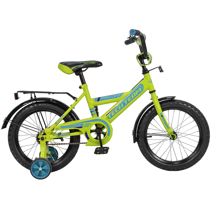 """Детский велосипед Tech Team 138 - 16"""" Зелёный"""