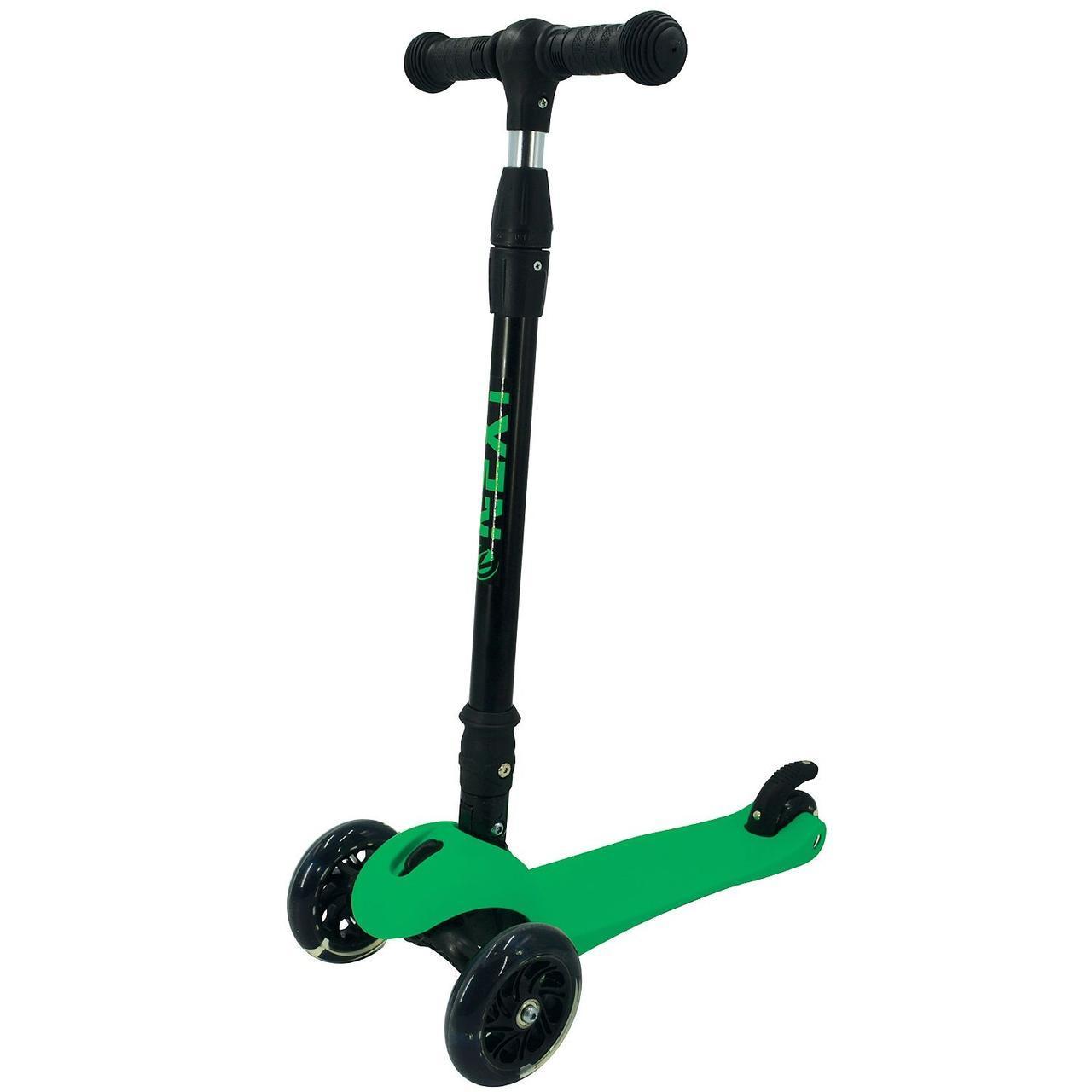 Детский трехколёсный самокат Next, зеленый