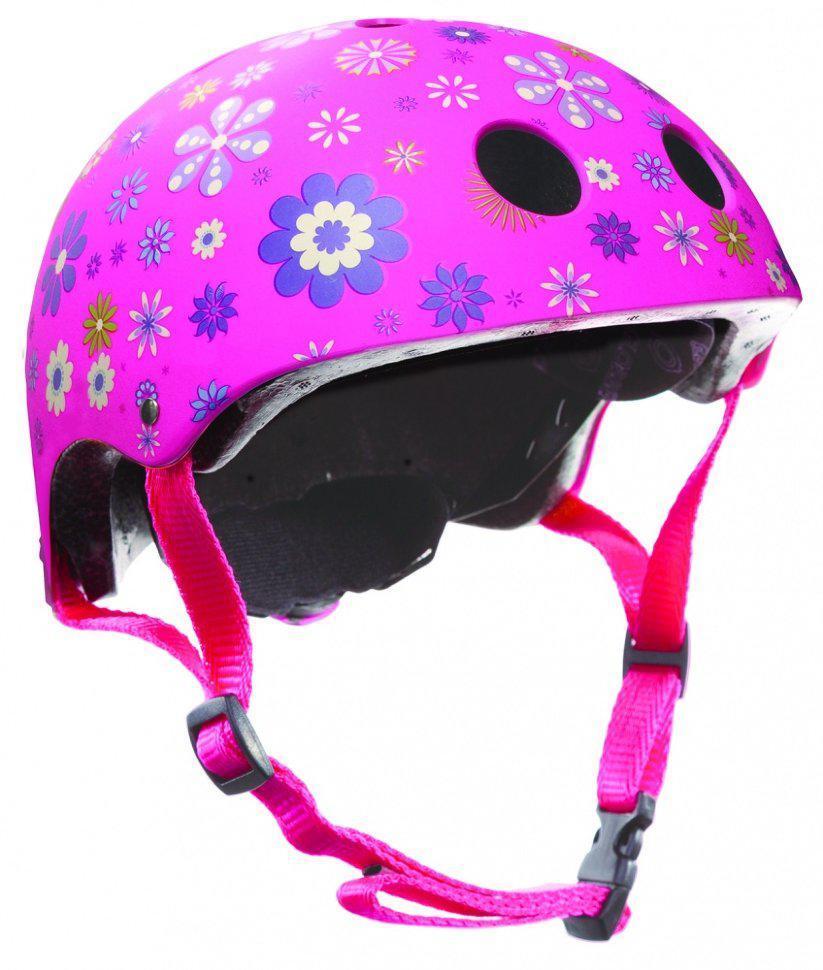 Защитный детский шлем Globber Flowers, розовый
