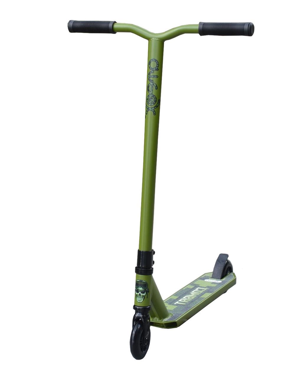 Самокат трюковой Ateox Combat, зелёный