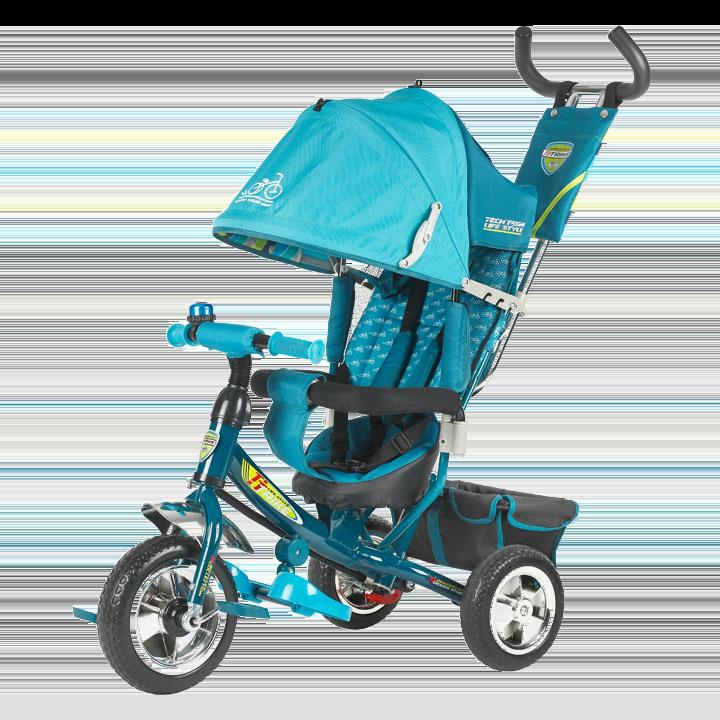 Трехколесный велосипед 950D Tech Team, голубой