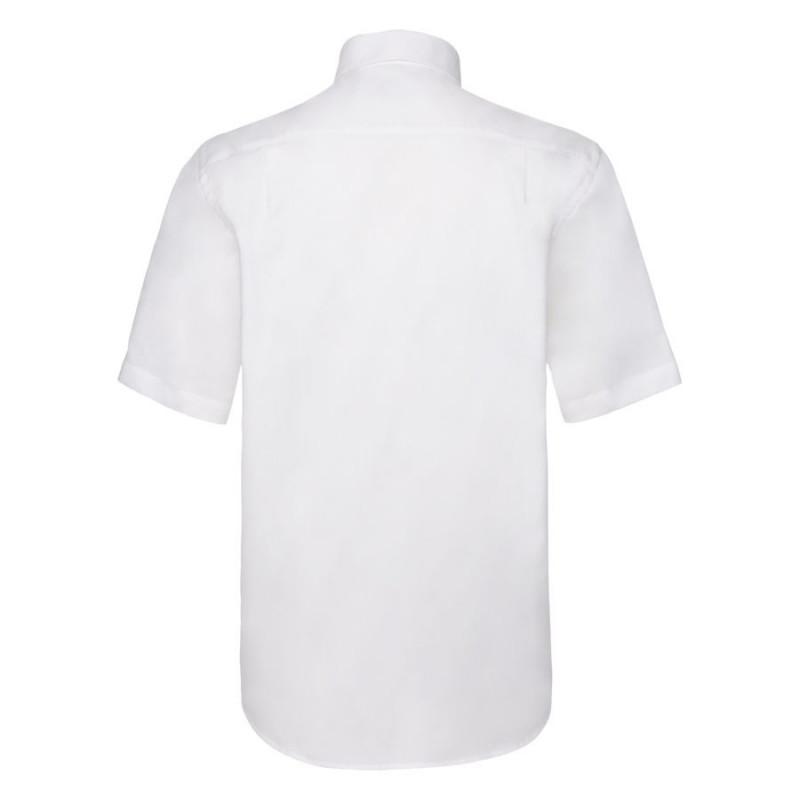 Рубашка мужская SHORT SLEEVE OXFORD SHIRT 130 , Белый, L, 651120.30 L - фото 2