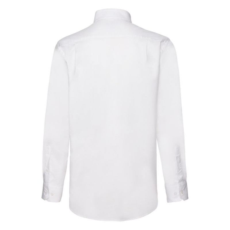 Рубашка мужская LONG SLEEVE OXFORD SHIRT 130, Белый, L, 651140.30 L - фото 2