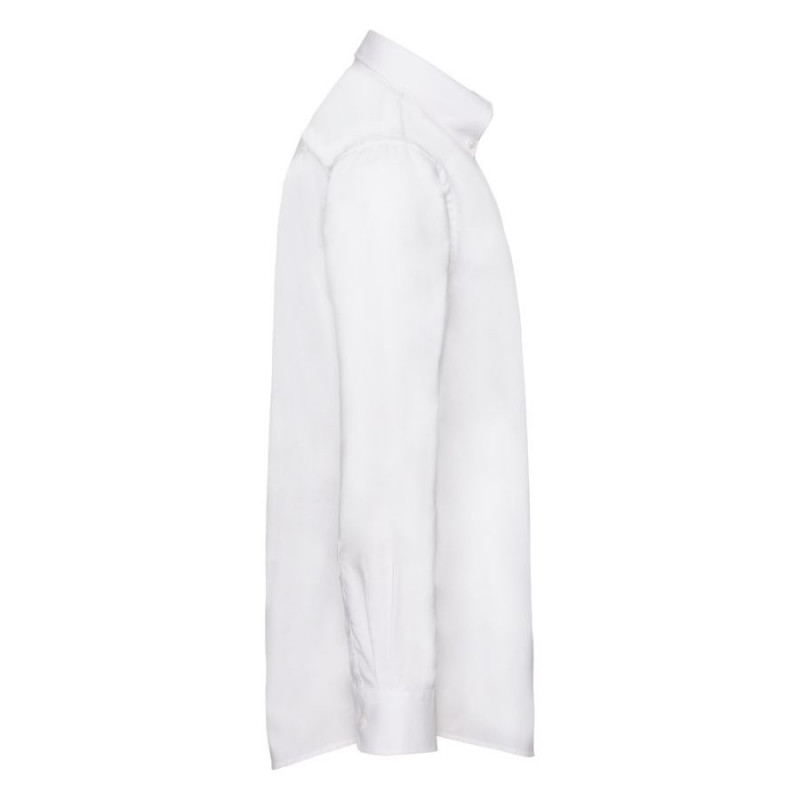 Рубашка мужская LONG SLEEVE OXFORD SHIRT 130, Белый, L, 651140.30 L - фото 3