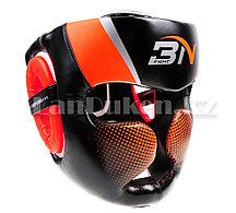Боксерский шлем Шлем для тхэквондо санда муай тай боевых искусств (оранжевый)