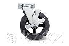 Колеса большегрузные поворотные с тормозом обрезиненые