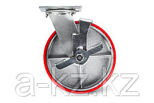 Колеса большегрузные поворотные с боковым тормозом (полиуретан)