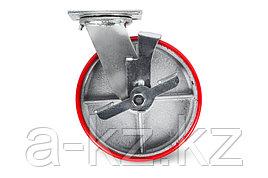 Колесо большегрузн. поворотн. PU тормоз  (SCpb 42) 100мм