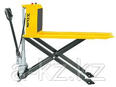 Тележка гидравлическая с ножничным подъемом  XILIN г/п 1000 кг JFD8 электрическая (резин.колеса)