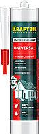 Герметик силиконовый KRAFTOOL прозрачный, универсальный, 300мл
