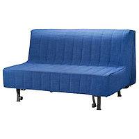 Диван-кровать 2-местный ЛИКСЕЛЕ Шифтебу синий ИКЕА, IKEA, фото 1
