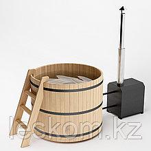 Японская баня (ФУРАКО)круглая из кедра с внешней печью