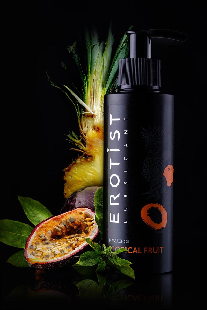 Массажное масло EROTIST Tropical Fruit, Съедобное, Тропические фрукты, 150 МЛ - фото 2
