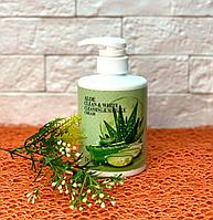 Крем для тела массажный очищающий с экстрактом алое Deoproce Clean & White Cleansing & Massage Cream  450 мл