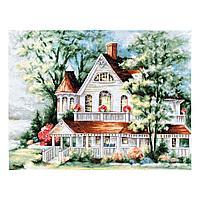 Набор для вышивания 'Дом у озера' 37*28,5см, Luca-S