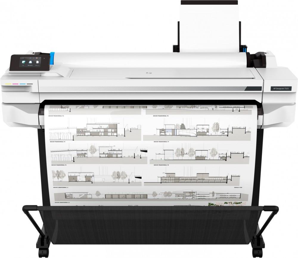 """HP 5ZY61A Струйный плоттер A0+ DesignJet T525 36"""", 914 мм"""