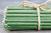 Свечки Восковые  ЗЕЛЁНЫЕ цена от 13 тенге за 1 шт Длина свечи 165мм