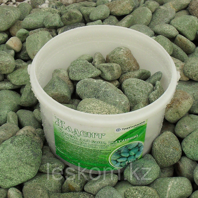 Жадеит, камень обвалованный, ведро 10кг