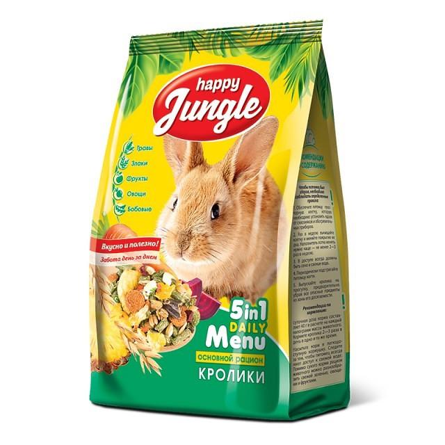 Корм Happy Jungle для кроликов
