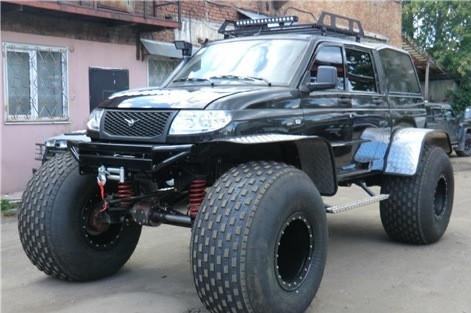 Болотоход на базе «УАЗ Patriot» и «УАЗ Pickup» 4x4