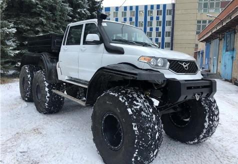 Болотоход на базе «УАЗ Pickup» «УАЗ Cargo» и «УАЗ Profi» 6x6
