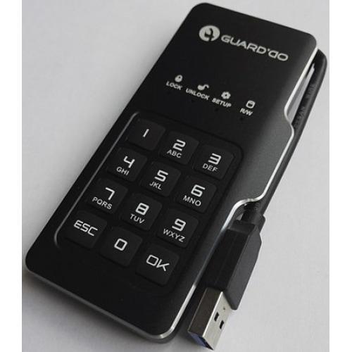 Компактный защищенный внешний USB диск GuardDo SSD