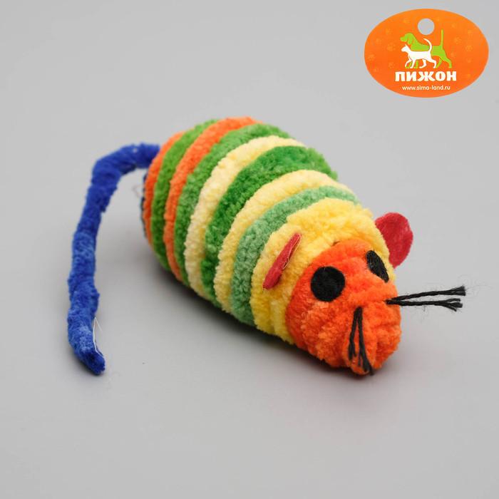Мышь - погремушка махровая для кошек