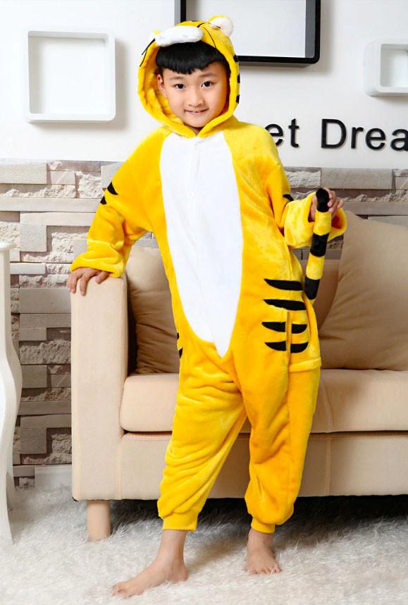 Кигуруми Желтый Тигр детский