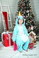 Кигуруми Голубой единорог детский