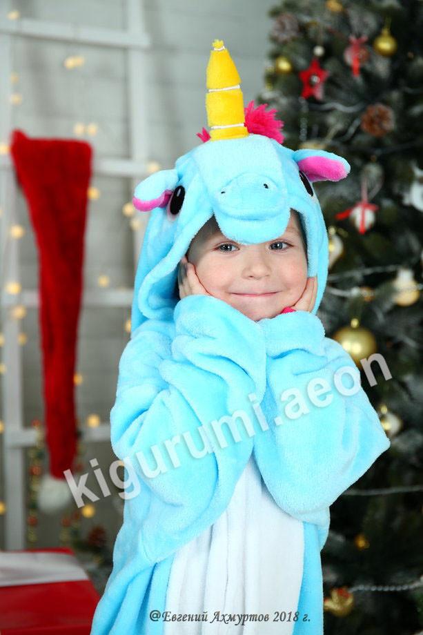 Кигуруми Голубой единорог детский - фото 2
