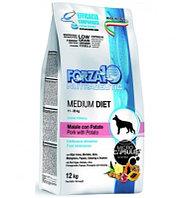 709416 Forza10 Medium Diet al Maiale con Patate, Форца10, низкозерновой корм для собак, кабан/картофель,12кг