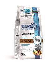 709393 Forza10 Medium Diet Low Grain Cavallo/ piselli, Форца10 низкозерновой корм для собак конина/горох, 12кг