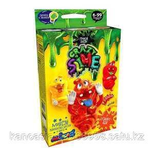 """Danco Toys Безопасный образовательный набор для проведения опытов """"Crazy Slime- Оранжевый"""" мини."""