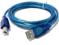 Кабель для принтера USB AM-BM 1.8м, синий, черный