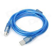Кабель для принтера USB AM-BM 3м, синий, черный