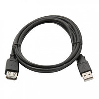 Кабель удлинитель USB(m) - USB(f) 1.8м, синий, черный