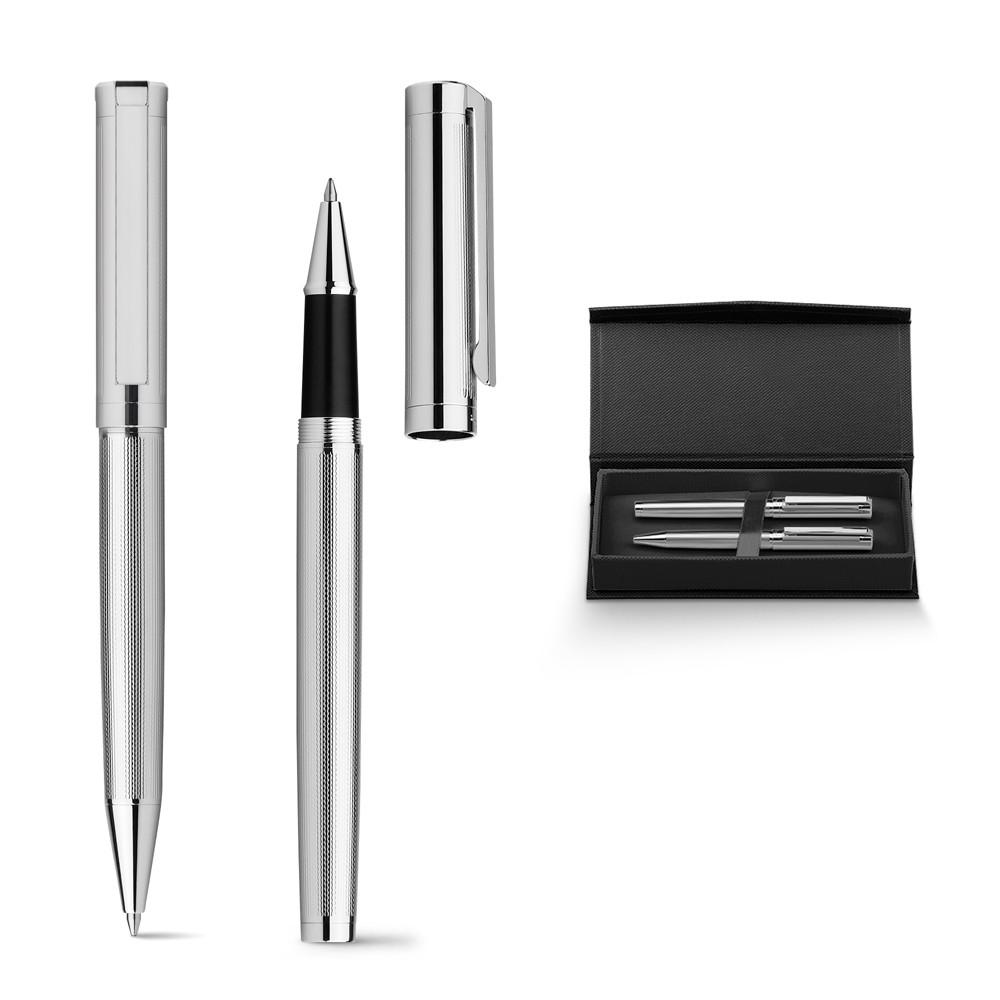 Набор из металлических шариковой ручки и роллера, EDMOND