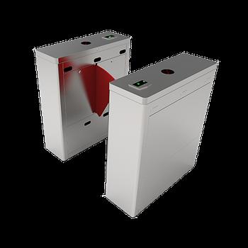 Турникет с выдвижными барьерами FBL1022 c контроллером и комбинированным биометрическим считывателем