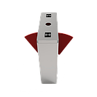 Турникет с выдвижными барьерами и двумя линиями движения FBL1211 с контроллером и считывателем RFID карт, фото 2