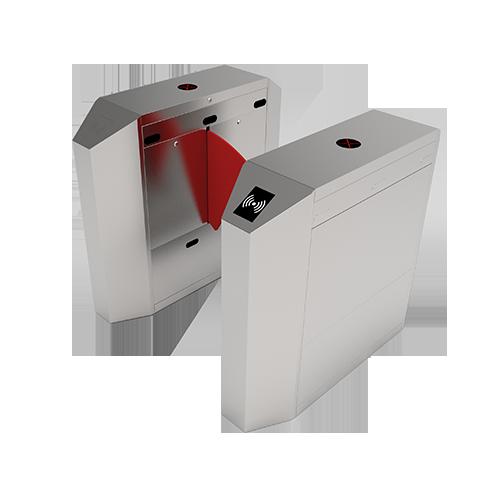 Турникет с выдвижными барьерами и одной линией движения FBL2011 с контроллером и считывателем RFID карт