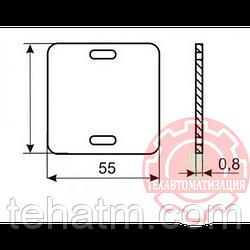 Квадратная бирка для маркировки силового кабеля У-134 в упаковке 1000 штук PUE-134